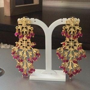 Pink Long Dress Earring
